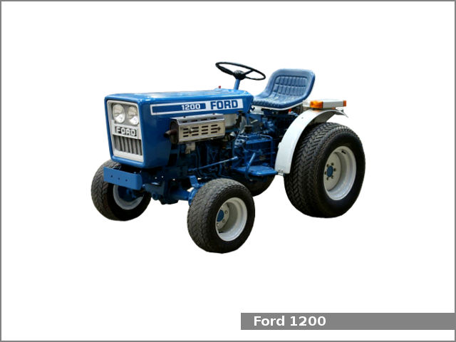 Ford 1200 utility tractor: review and specs, service data - Tractor