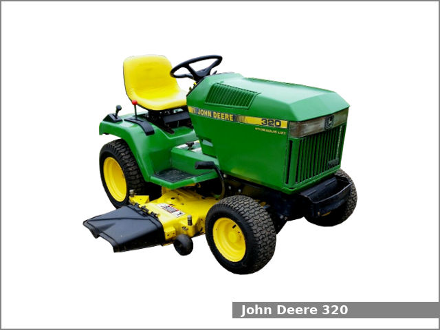 The John Deere 320 Is A Lawn And Garden Tractor From 300 Series Of Small Tractors With V Twin 90 Liquid Cooled 4 Stroke Kawasaki Fd590v Vertical Engine 585