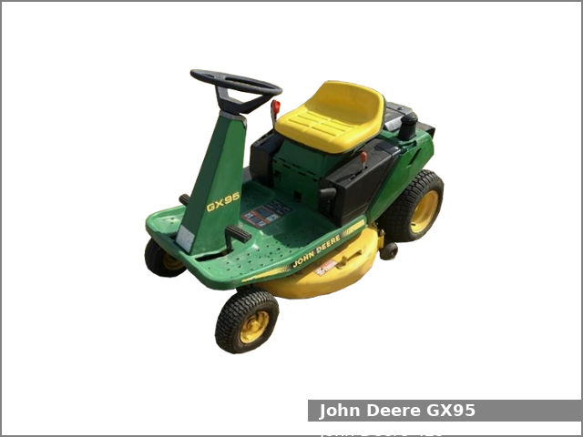 John Deere GX95 riding lawn mower: review and specs