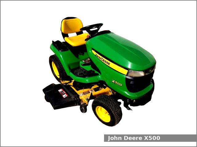 John Deere X500 garden tractor: review and specs - Tractor Specs | X500 John Deere Lawn Mower Engine Diagram |  | Tractor-Specs.net